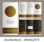 vintage floral style brochure...   Shutterstock .eps vector #394462975