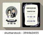 wedding invitation card... | Shutterstock .eps vector #394463455