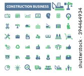 construction business icons  | Shutterstock .eps vector #394464934