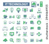 it technology icons  | Shutterstock .eps vector #394464955