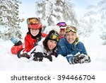 family enjoying winter time... | Shutterstock . vector #394466704