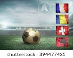 soccer player stay at field. | Shutterstock . vector #394477435