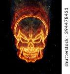burning skull | Shutterstock . vector #394478431