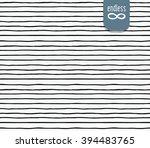 vector handmade seamless... | Shutterstock .eps vector #394483765