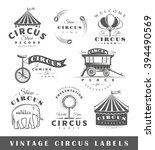 set of circus labels. elements... | Shutterstock . vector #394490569