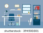 office workplace and equipment... | Shutterstock .eps vector #394500301