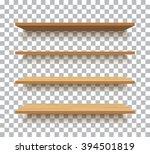 vector empty wooden shelf... | Shutterstock .eps vector #394501819