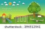kids playground. buildings for... | Shutterstock .eps vector #394512541