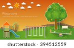 kids playground. buildings for... | Shutterstock .eps vector #394512559