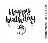 hand drawn black ink brush... | Shutterstock .eps vector #394515325