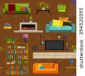 furniture shop super... | Shutterstock .eps vector #394520395