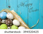easter card. painted easter... | Shutterstock . vector #394520425