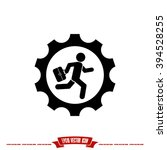 man in gear icon vector... | Shutterstock .eps vector #394528255