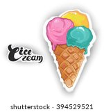 ice cream.sweet dessert  ... | Shutterstock .eps vector #394529521