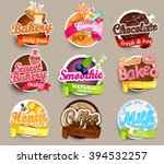 set of stickers of food   farm... | Shutterstock .eps vector #394532257