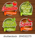 farm fresh  organic food label  ... | Shutterstock .eps vector #394532275