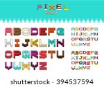 isometric colorful alphabet... | Shutterstock .eps vector #394537594