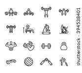 fitness and exercise icon set.... | Shutterstock .eps vector #394538401