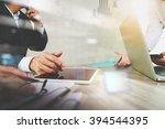 businessman making presentation ...   Shutterstock . vector #394544395