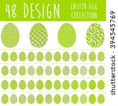 easter egg collection with 48... | Shutterstock .eps vector #394545769