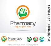 pharmacy logo template design... | Shutterstock .eps vector #394548061