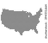 dotted map   united states | Shutterstock .eps vector #394551664