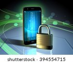 data protection for a mobile... | Shutterstock . vector #394554715