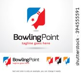 bowling point logo template... | Shutterstock .eps vector #394555591