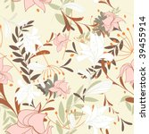 seamless vector floral... | Shutterstock .eps vector #39455914
