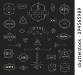 set hipster icons  logo  badge  ... | Shutterstock .eps vector #394565989