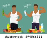 figure of a man before and... | Shutterstock .eps vector #394566511