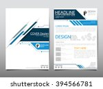 annual report brochure flyer... | Shutterstock .eps vector #394566781