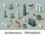 skyscraper logo building icon.... | Shutterstock .eps vector #394566865