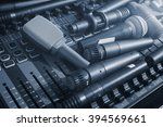 Many Microphone On Audio Mixer...