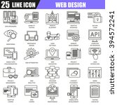 thin line icons set of web...