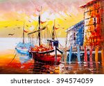 oil painting   venice  italy | Shutterstock . vector #394574059