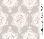 seamless floral pattern with... | Shutterstock .eps vector #394574617