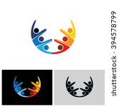 team   teamwork  excited... | Shutterstock .eps vector #394578799