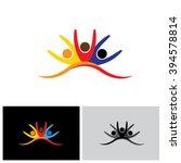 concept vector icon of happy... | Shutterstock .eps vector #394578814