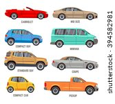 car types vector flat icons.... | Shutterstock .eps vector #394582981
