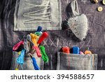 handmade sewing cloth with... | Shutterstock . vector #394588657