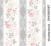 seamless floral pattern with... | Shutterstock .eps vector #394589587