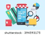 internet shopping  vector... | Shutterstock .eps vector #394593175