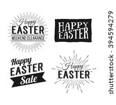 happy easter greeting card.... | Shutterstock . vector #394594279