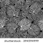 exotic leaves seamless pattern... | Shutterstock .eps vector #394594999
