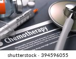 diagnosis   chemotherapy.... | Shutterstock . vector #394596055
