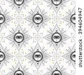 sacred geometry seamless... | Shutterstock .eps vector #394604947