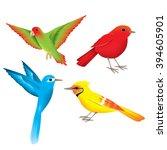 bird vector icons | Shutterstock .eps vector #394605901