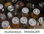 different spices and flavoring...   Shutterstock . vector #394606189