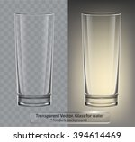 transparent vector glass for... | Shutterstock .eps vector #394614469